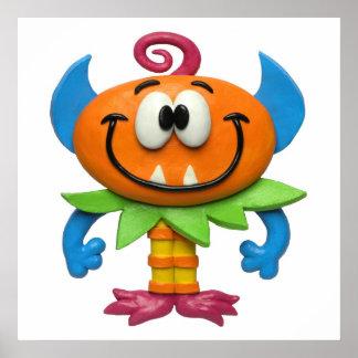 Baby Monster Baby Girl Shower Nursery Poster