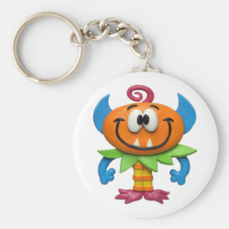Baby Monster Basic Round Button Keychain