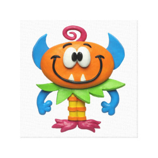 Baby Monster Stretched Canvas Prints