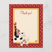 BABY MOO COW (Red) 4x5 Flat Thank you note