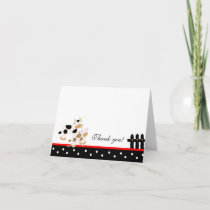Baby Moo Moo Red/Black Folded Thank you note