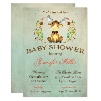 Baby Moose Shower Invitation
