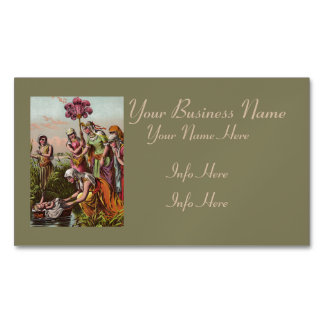 Baby Moses In A Basket Magnetic Business Card