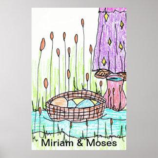 Baby Moses & Miriam at the Nile River Print