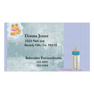 Baby Motiif In Blues Business Card