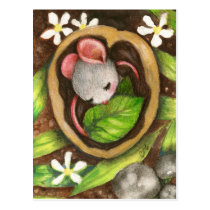 Baby Mouse Cute Animal Illustration Postcard