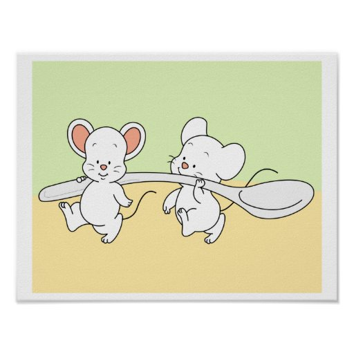 Baby Mouse helping each other Poster