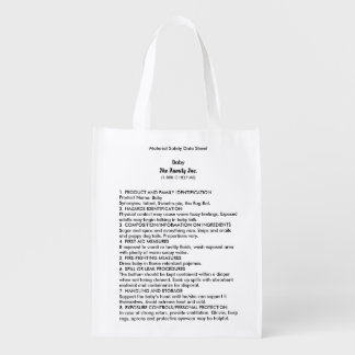 Baby MSDS reusable grocery bag