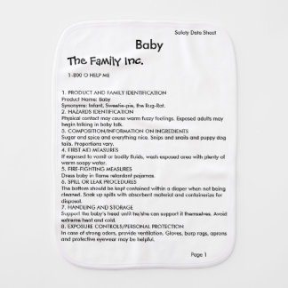 Baby MSDS / SDS burp cloth