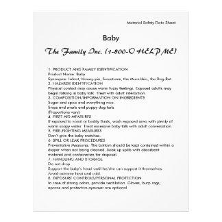 Baby MSDS / SDS Flyer