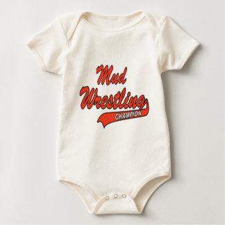 Baby Mud Wrestling Champion Baby Bodysuits