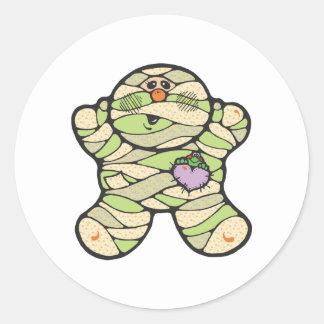 baby mummy classic round sticker
