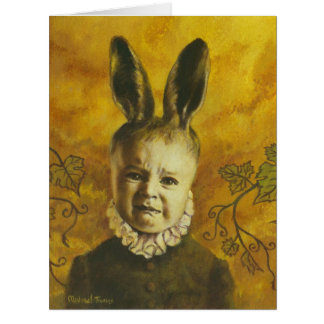 Baby Mutant Bunny Large Greetings Card