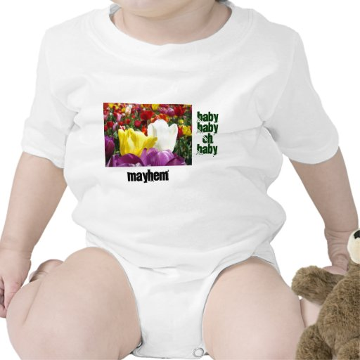 Baby Myhem Creepers Tulip Flowers Funny Humor Romper