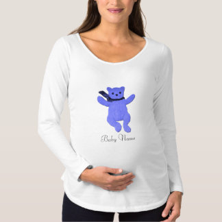 Baby Name Bear Design Maternity T-Shirt