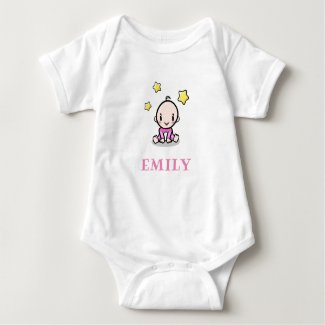 Baby name bodysuit, cute personalized baby gift baby bodysuit