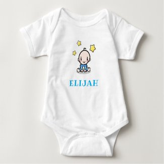 Baby name creeper, cute personalized baby gift,  baby bodysuit