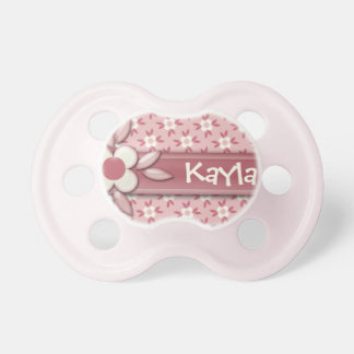 Baby Name DIY It s a Girl Cute Pink Daisy Flower Baby Pacifier