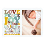 Baby Name First Christmas Boy Birth Announcement Invites