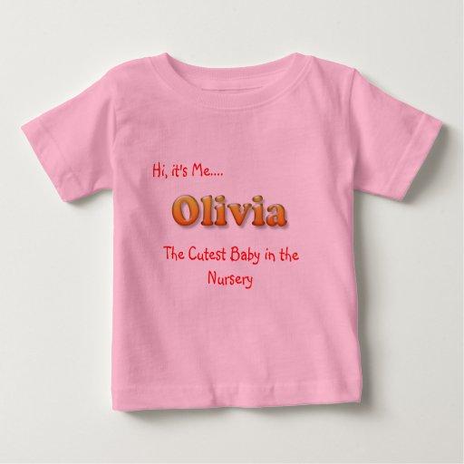 baby name tshirt olivia