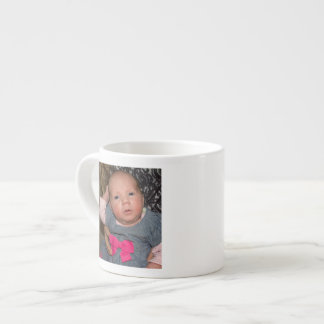 Baby Natalie in a Blue Dress Espresso Cup