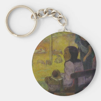 Baby (Nativity of Tahitian Christ) by Paul Gauguin Basic Round Button Keychain