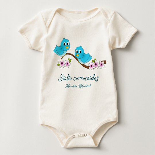 Baby Naturalist Tee- Mountain Bluebird Baby Bodysuit