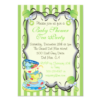 Baby Neutral Shower Victorian Tea Party Invitation