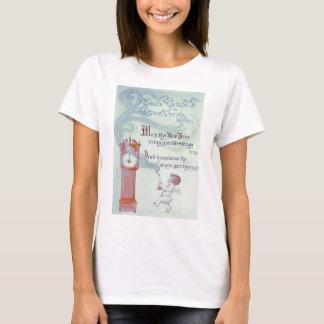 Baby New Year Cherub Angel Grandfather Clock T-Shirt