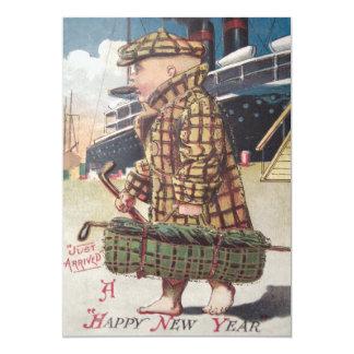 Baby New Year Cigar Golf Bag Ship Card