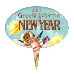 Baby New Year Greetings Cake Pick Decoration