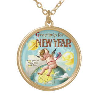 Baby New Year Greetings Vintage Costume Jewelry
