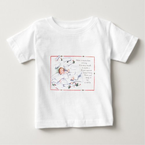 Baby New Year Holly Angel Cherub T-shirt