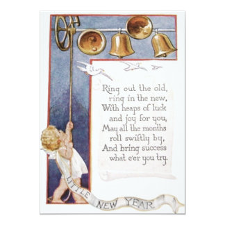 Baby New Year Ringing Bells Dove Card