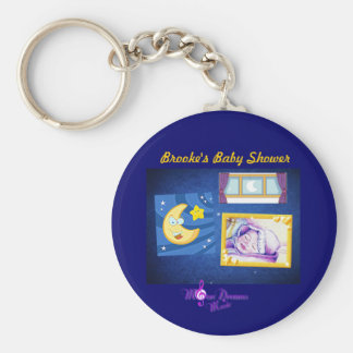 Baby Night Song Blue Button Keychain