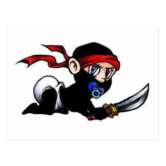 Baby Ninja Infant Ninjutsu Postcards