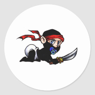 Baby Ninja Infant Ninjutsu Round Stickers
