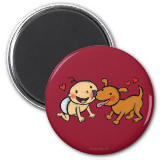 Baby Nose Kisses from the Dog Fridge Magnets