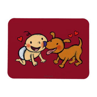 Baby Nose Kisses from the Dog Flexible Magnets