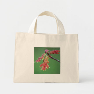 Baby Oak Leaves canvas tote Mini Tote Bag