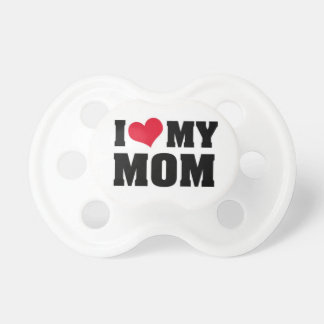 Baby of pacifier I Love MOM