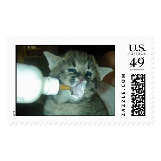 Baby Oliver with Milk on Face Postage Stamp