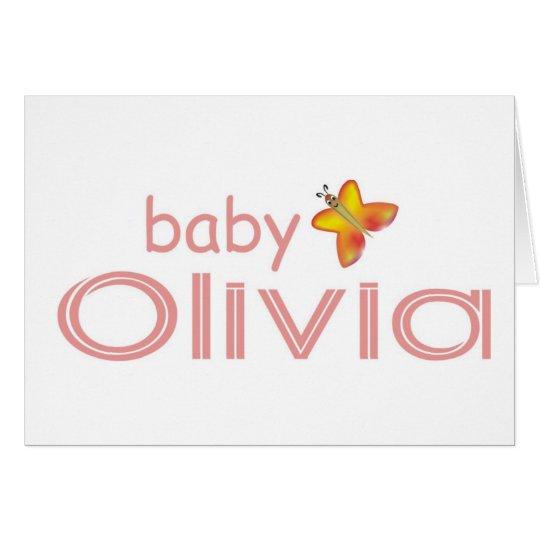 Baby Olivia Card