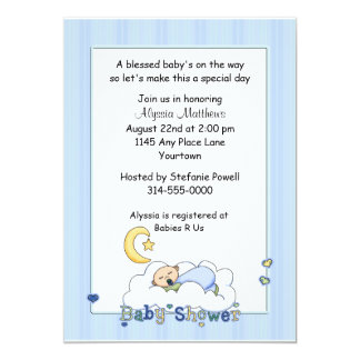 Baby on a Cloud Baby Shower Card
