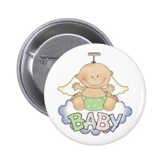 Baby On A Cloud Button