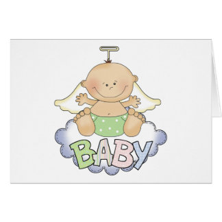 Baby On A Cloud Greeting Card