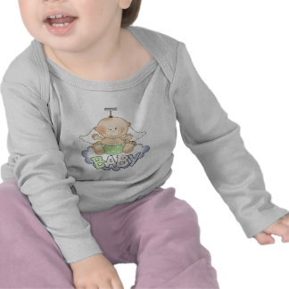 Baby On A Cloud Long Sleeve Baby Shirt