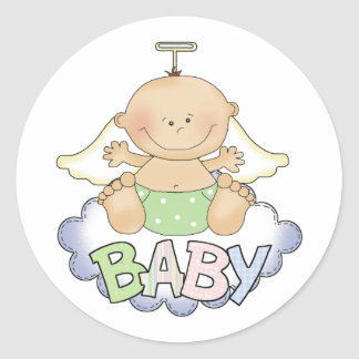 Baby On A Cloud Stickers