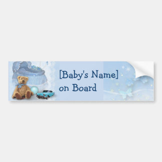 Baby on Board (customizable) Bumper Sticker