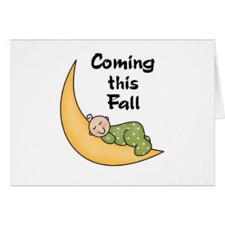 Baby on Moon Fall Card